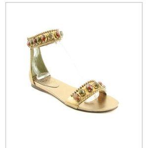 7883f24c0f Vince Camuto Shoes | Bronze Metallic Cork Heeled Sandals | Poshmark